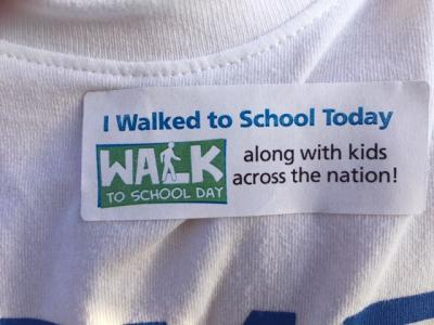 walk and bike sticker